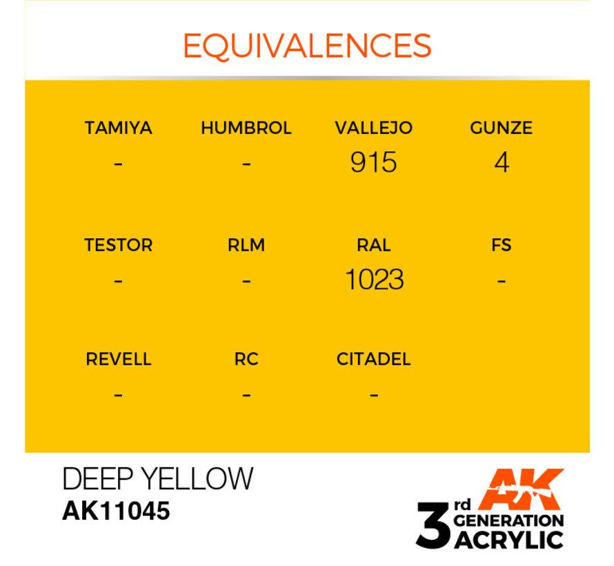 Deep Yellow Intense Modelling Colors - 17ml - AK11045