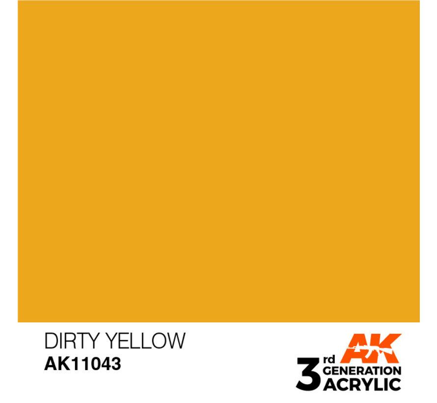 Dirty Yellow Acrylic Modelling Colors - 17ml - AK11043