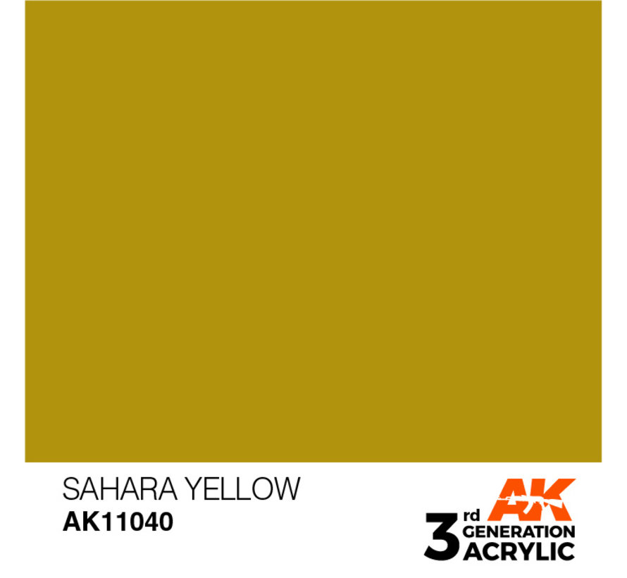 Sahara Yellow Acrylic Modelling Colors - 17ml - AK11040
