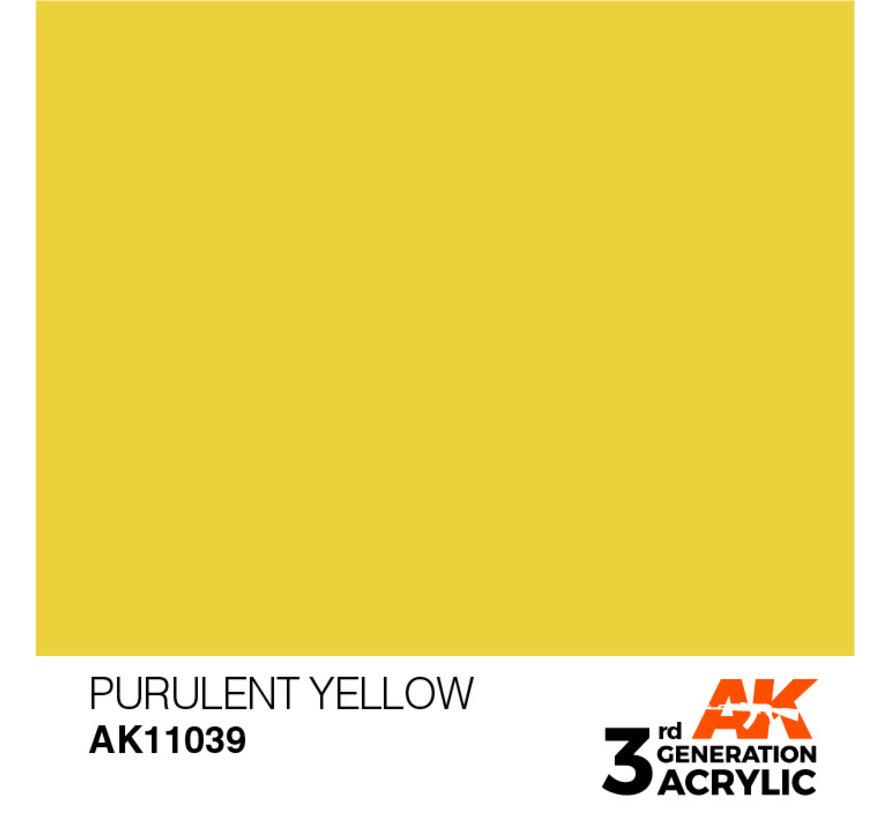 Purulent Yellow Acrylic Modelling Colors - 17ml - AK11039