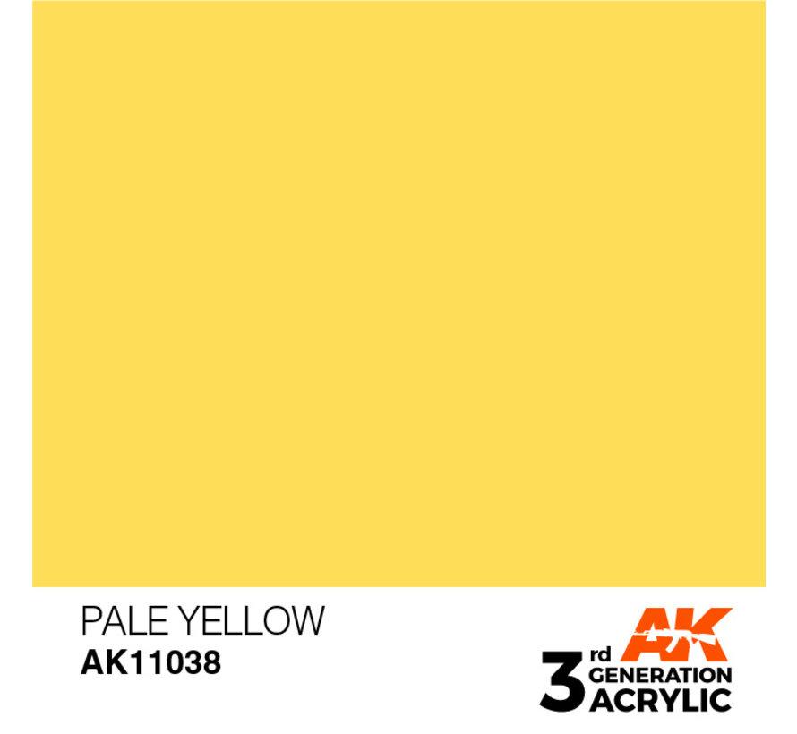 Pale Yellow Acrylic Modelling Colors - 17ml - AK11038