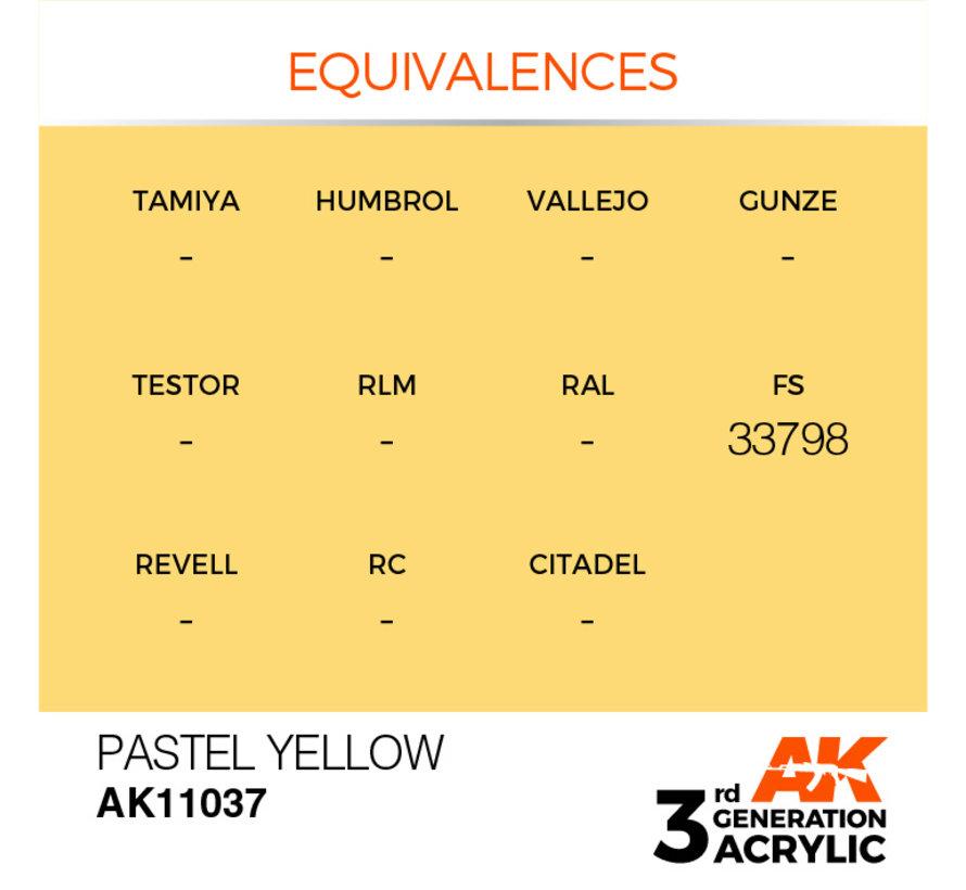 Pastel Yellow Pastel Modelling Colors - 17ml - AK11037