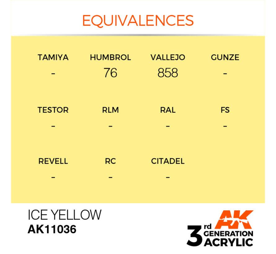 Ice Yellow Acrylic Modelling Colors - 17ml - AK11036