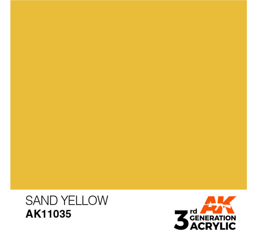 Sand Yellow Acrylic Modelling Colors - 17ml - AK11035