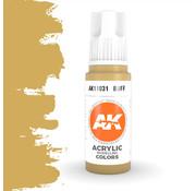 AK interactive Buff Acrylic Modelling Colors - 17ml - AK11031