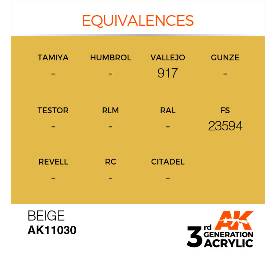 Beige Acrylic Modelling Colors - 17ml - AK11030
