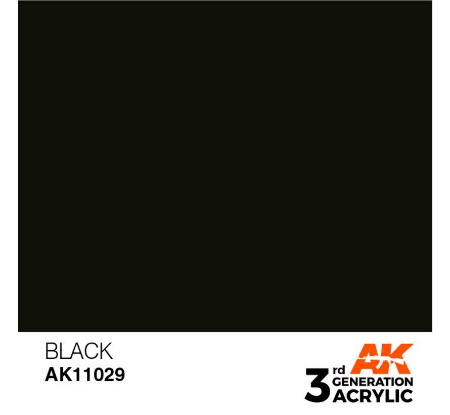 Black Intense Modelling Colors - 17ml - AK11029