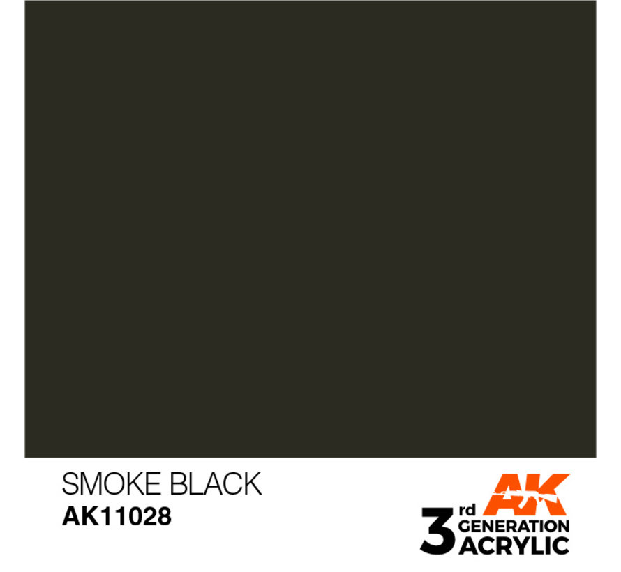 Smoke Black Acrylic Modelling Colors - 17ml - AK11028