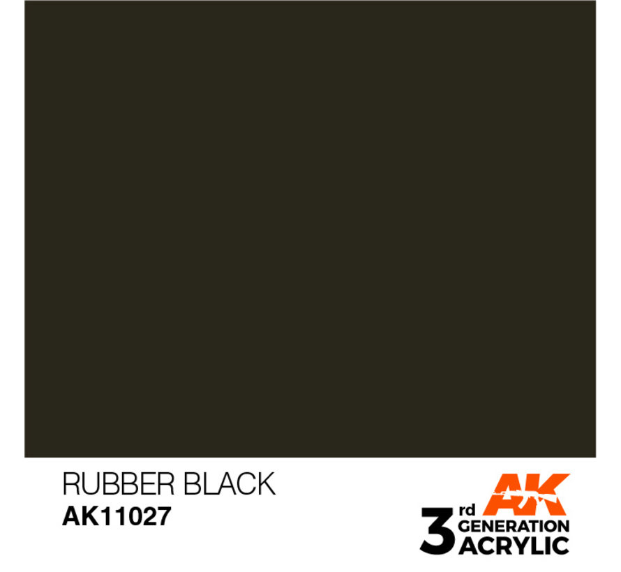 Rubber Black Acrylic Modelling Colors - 17ml - AK11027