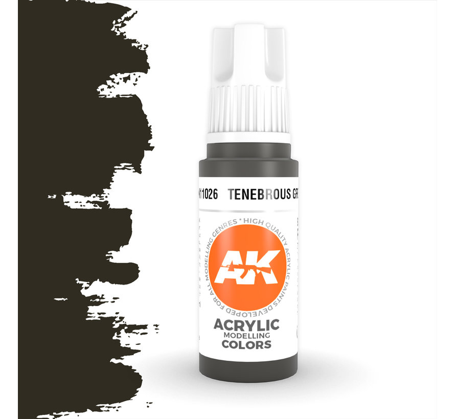 Tenebrous Grey Acrylic Modelling Colors - 17ml - AK11026