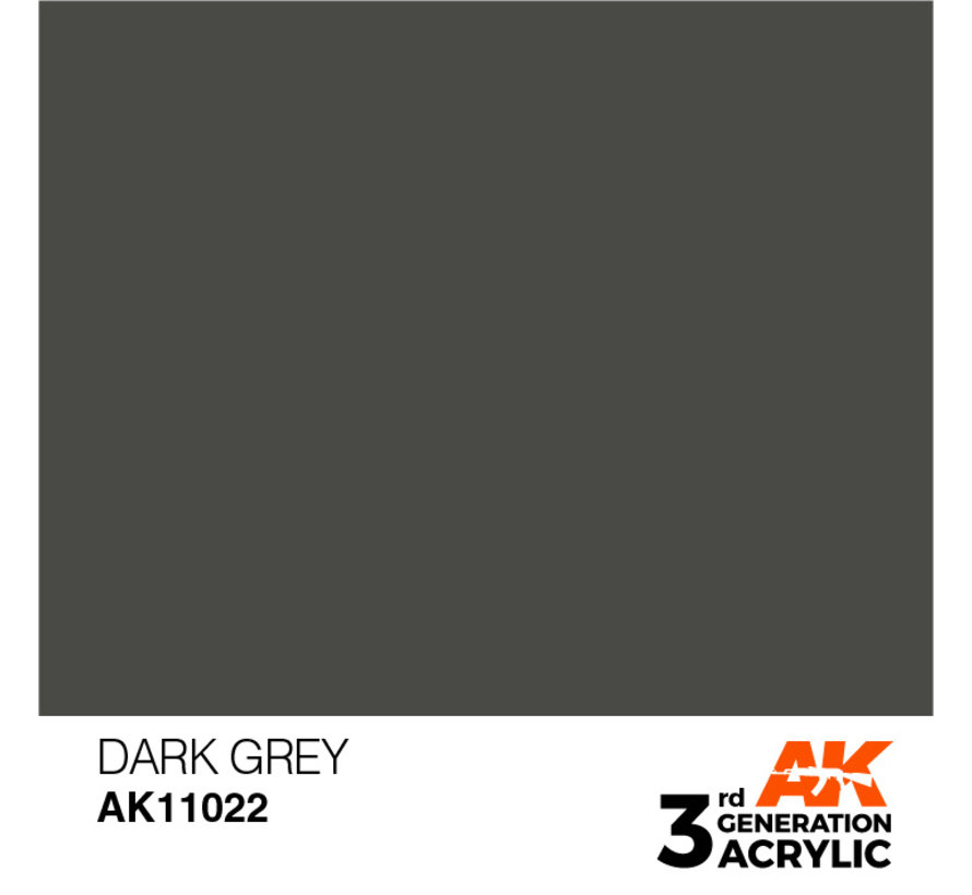 Dark Grey Acrylic Modelling Colors - 17ml - AK11022