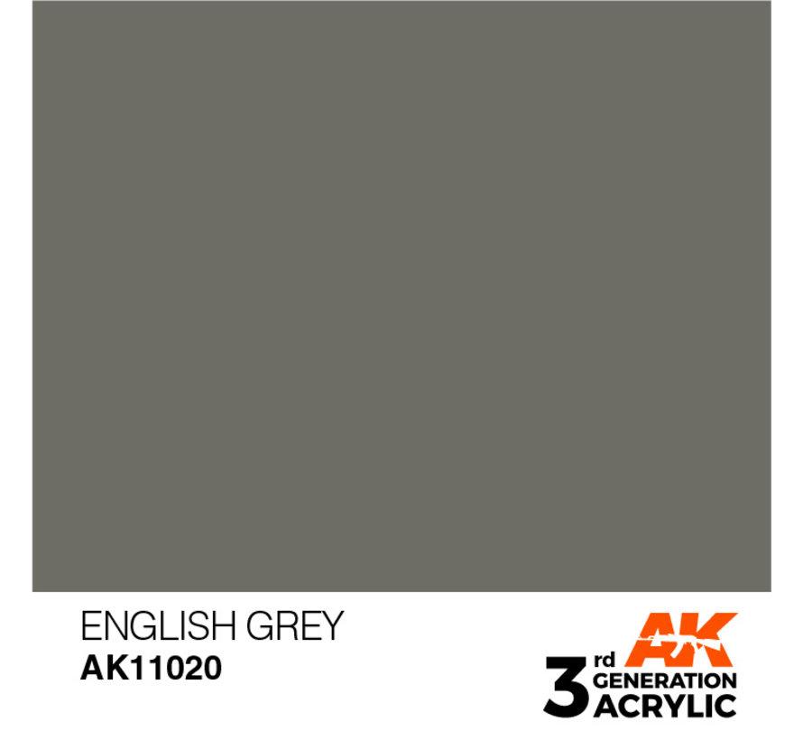 English Grey Acrylic Modelling Colors - 17ml - AK11020