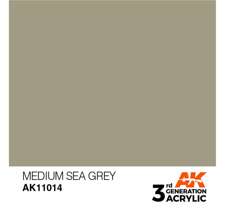 Medium Sea Grey Acrylic Modelling Colors - 17ml - AK11014
