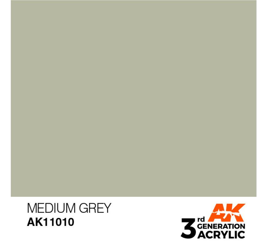 Medium Grey Acrylic Modelling Colors - 17ml - AK11010