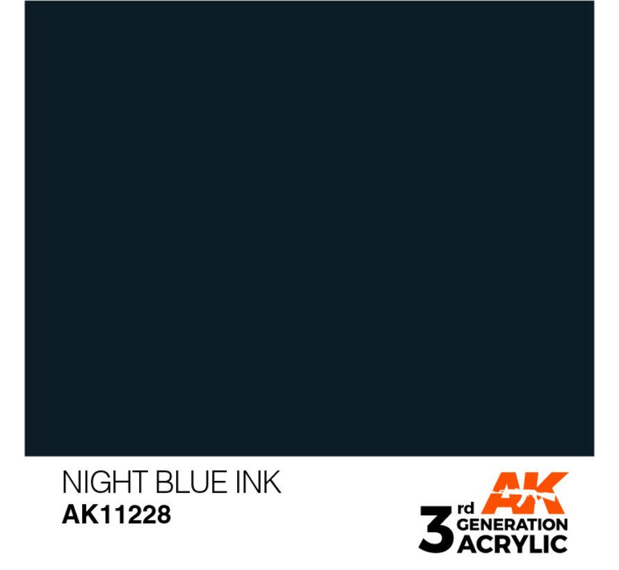 Night Blue Ink Ink Modelling Colors - 17ml - AK11228
