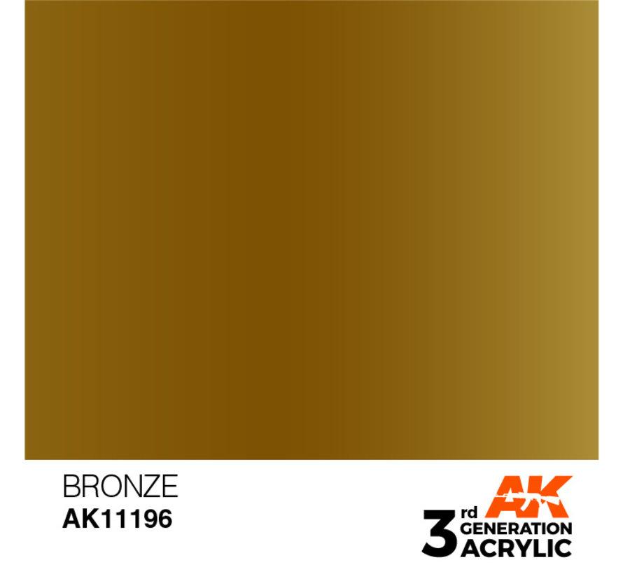 Bronze Metallic Modelling Colors - 17ml - AK11196