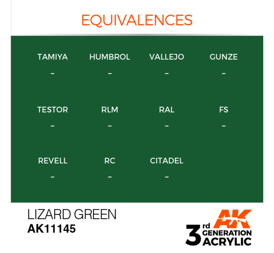 Lizard Green Acrylic Modelling Colors - 17ml - AK11145