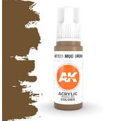 AK interactive Mud Brown Acrylic Modelling Colors - 17ml - AK11120