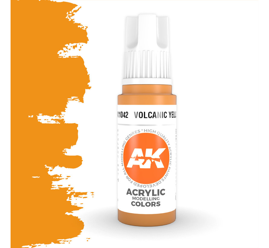 Volcanic Yellow Acrylic Modelling Colors - 17ml - AK11042