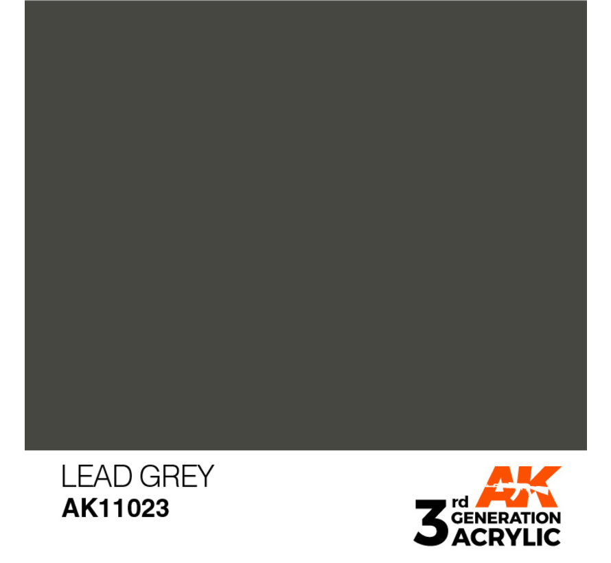 Lead Grey Acrylic Modelling Colors - 17ml - AK11023