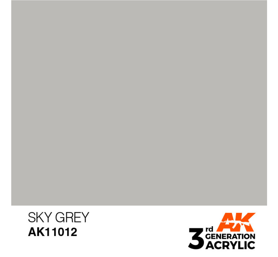 Sky Grey Acrylic Modelling Colors - 17ml - AK11012