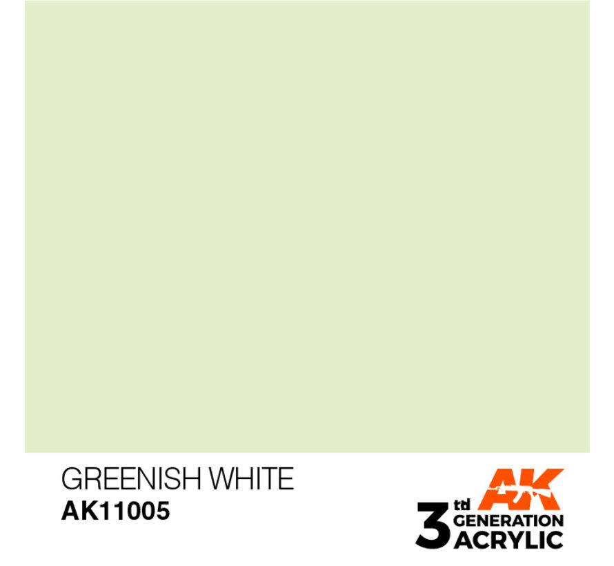 Greenish White Acrylic Modelling Colors - 17ml - AK11005