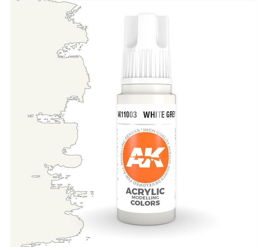 White Grey Acrylic Modelling Colors - 17ml - AK11003
