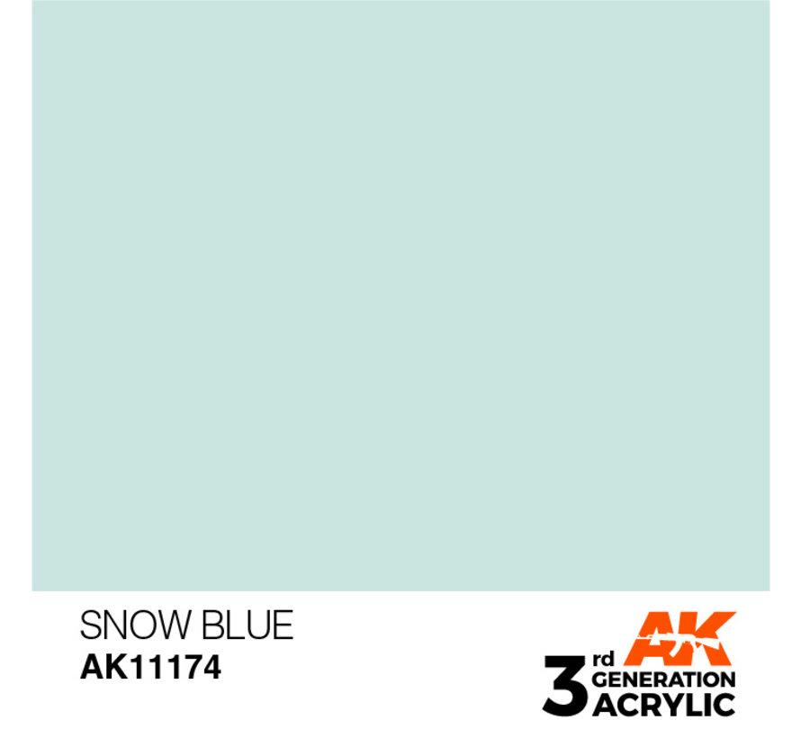 Snow Blue Acrylic Modelling Colors - 17ml - AK11174