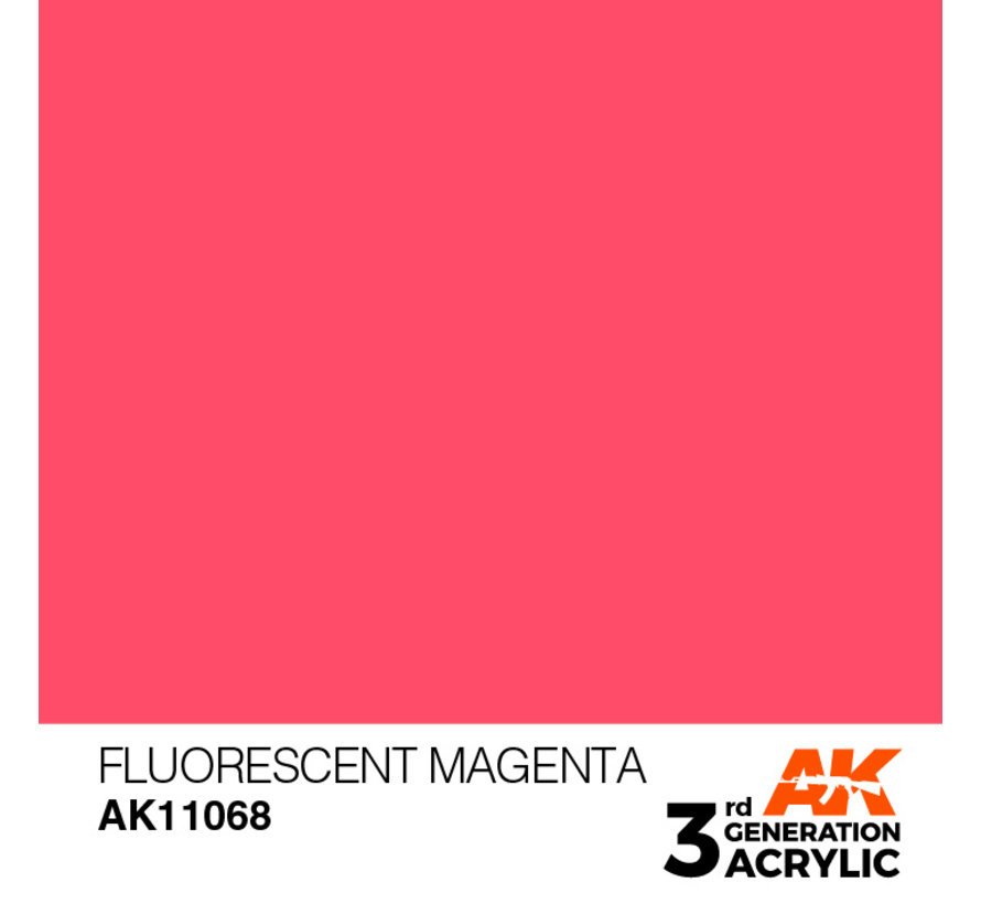 Fluorescent Magenta Acrylic Modelling Colors - 17ml - AK11068