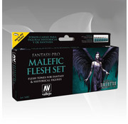 Vallejo Fantasy-Pro Malefic Flesh Set - 8 kleuren - 17ml - 74102