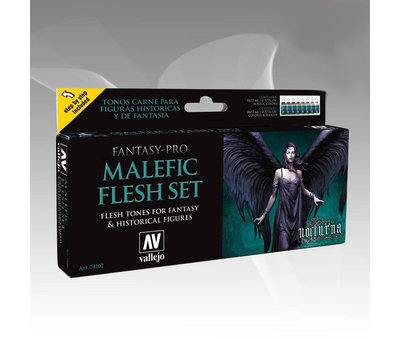 Vallejo Fantasy-Pro Fairy Flesh Set - 8 kleuren - 17ml - 74101