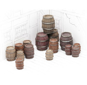 Tabletop-Art Wooden Barrels Set 4 - Mixed Sizes - 15x - TTA601092