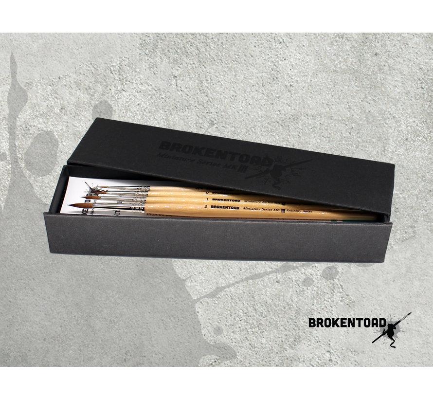 MK3 Miniature Series penselen Set - 4x - BT-MSB005
