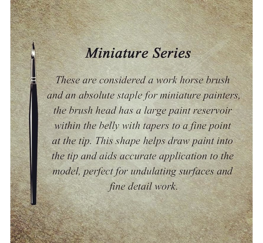 MK3 Miniature Series 2 penseel - BT-MSB001
