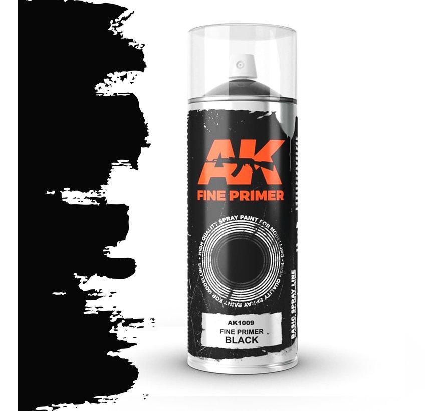 Fine Primer Black Spray - 400ml - AK1009