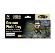 Vallejo Model Color German Field Grey - 8 kleuren - 17ml - 70181
