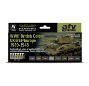 Vallejo Model Air AFV Series WWII British Colors UK/BEF/Europe - 8 kleuren - 17ml - 71614