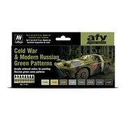 Vallejo Model Air AFV Series Cold War & Modern Russian Green Patterns - 8 kleuren - 17ml - 71621