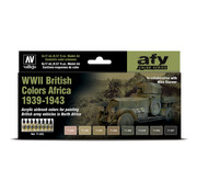 Vallejo Model Air AFV Series WWII British Colors Africa 1939-1943 - 8 kleuren - 17ml - 71622