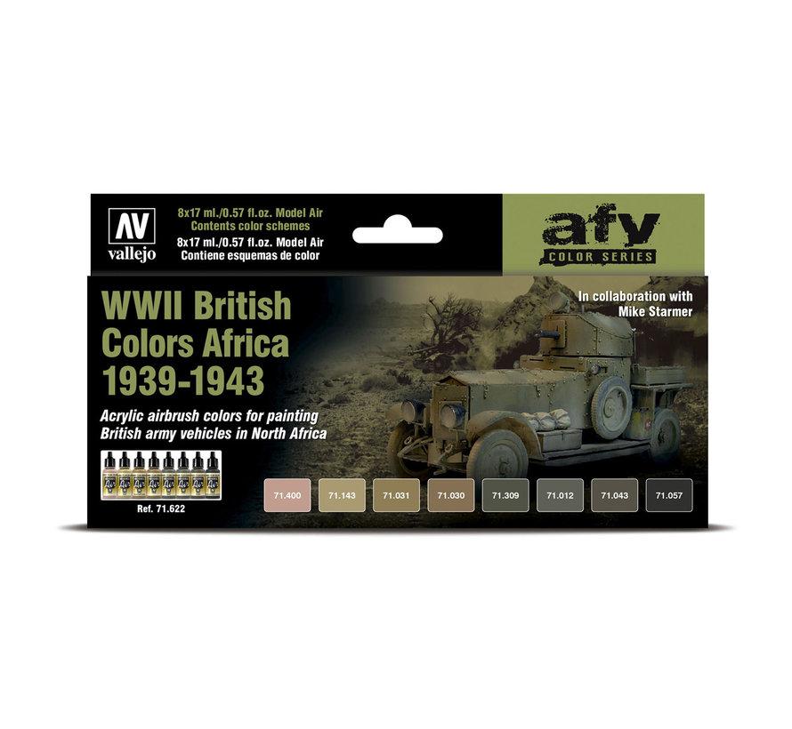 Model Air AFV Series WWII British Colors Africa 1939-1943 - 8 kleuren - 17ml - 71622