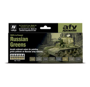 Vallejo Model Air AFV Series Russian Greens - 8 kleuren - 17ml - 71613