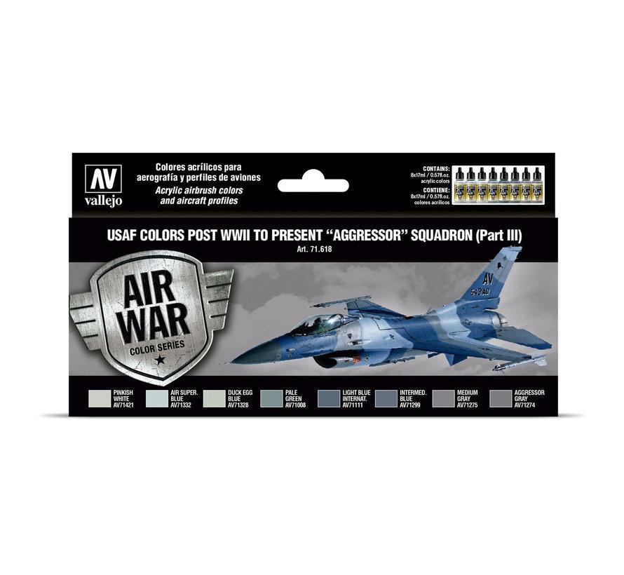 Model Air - Air War - USAF colors post WWII to present Aggressor Squadron Part III - 8 kleuren - 17ml - VAL-71618