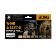 Vallejo Model Color Wood and Leather - 8 kleuren - 17ml - 70182