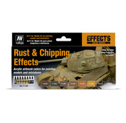 Vallejo Model Air Rust & Chipping Effects - 8 kleuren - 17ml - 71186