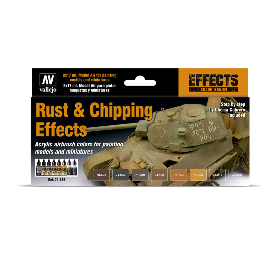 Model Air Rust & Chipping Effects - 8 kleuren - 17ml - 71186