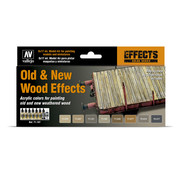 Vallejo Model Air Old & New Wood Effects - 8 kleuren - 17ml - 71187