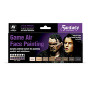 Vallejo Game Air Face Painting - 8 kleuren - 17ml - 72865