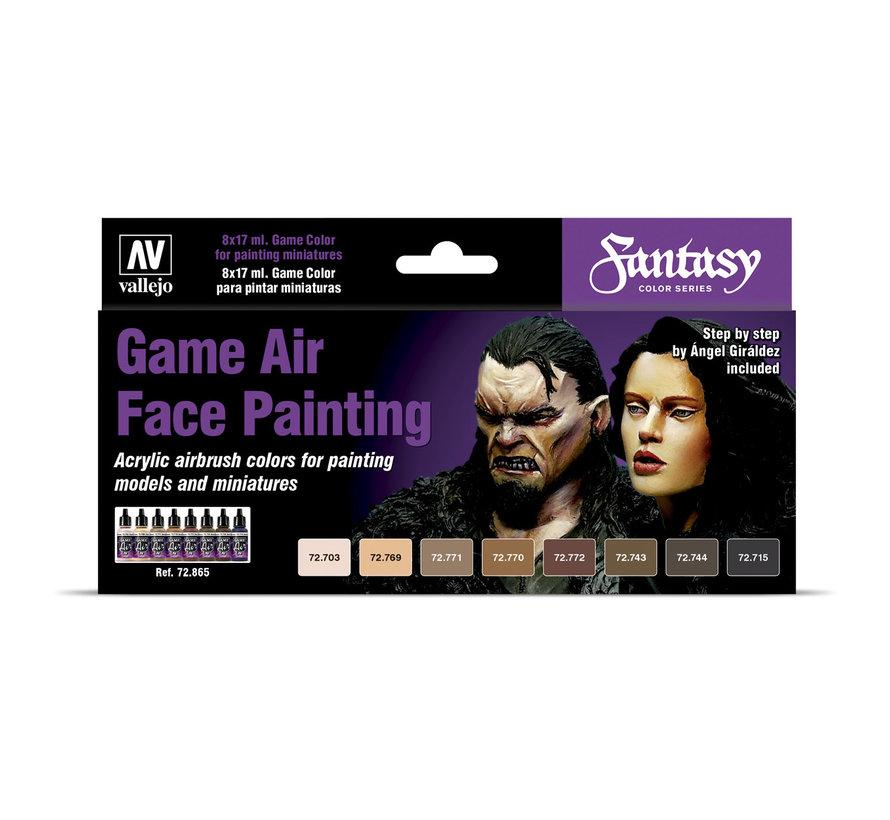 Game Air Face Painting - 8 kleuren - 17ml - 72865