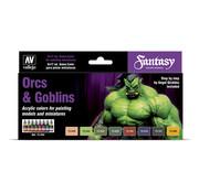 Vallejo Game Color Orcs and Goblins - 8 kleuren - 17ml - 72304