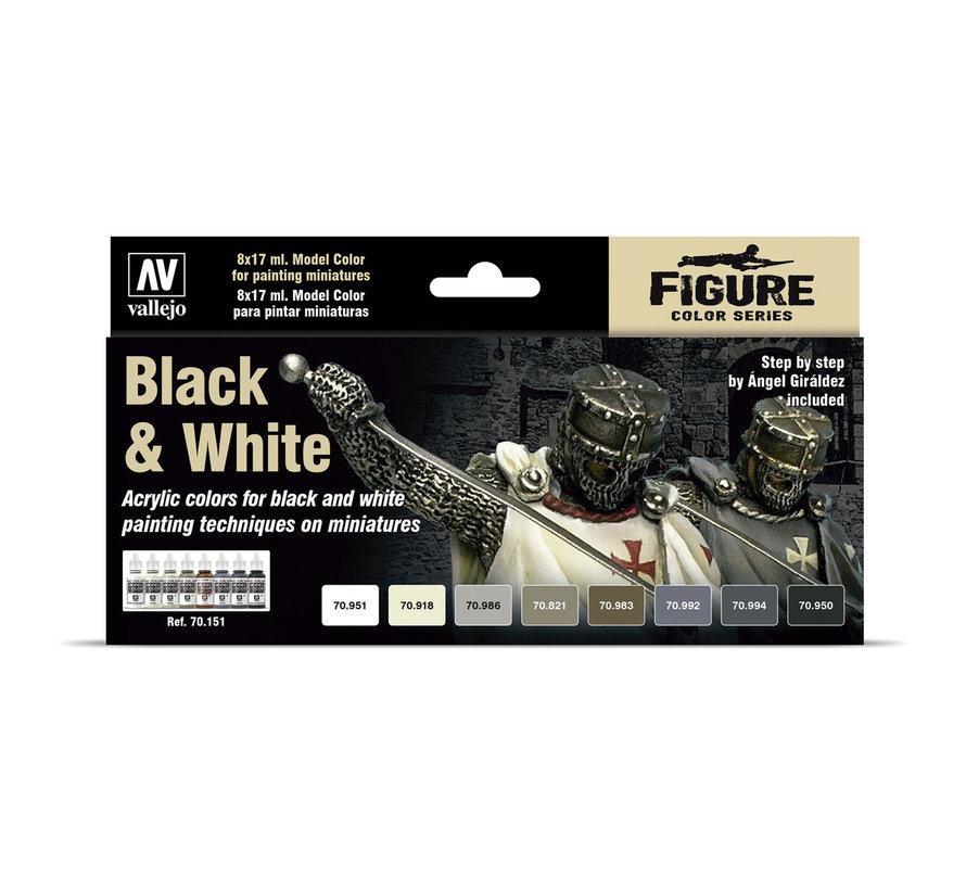 Model Color Black & White - 8 kleuren - 17ml - 70151